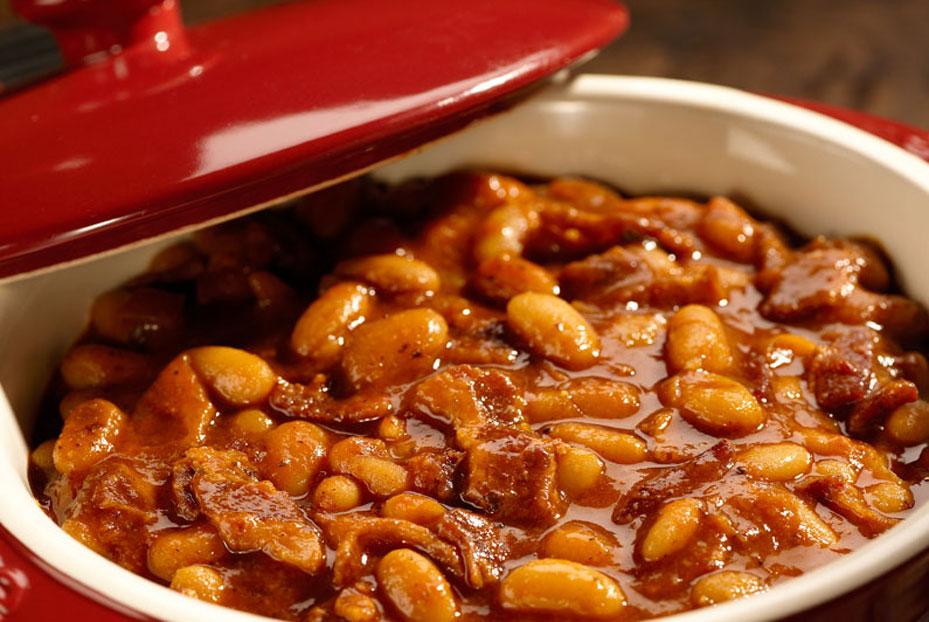 15 oz can pork 'n beans 15 oz can butter beans